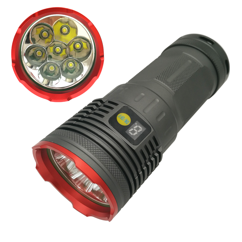 High Power LED Flashlight waterproof torch flashlights 7 x CREE XM-L T6 12000LM 3 mode For 4 x 18650 Battery With charger trustfire tr j18 flashlight 5 mode 8000 lumens 7 x cree xm l t6 led by 18650 or 26650 battery waterproof high power torch