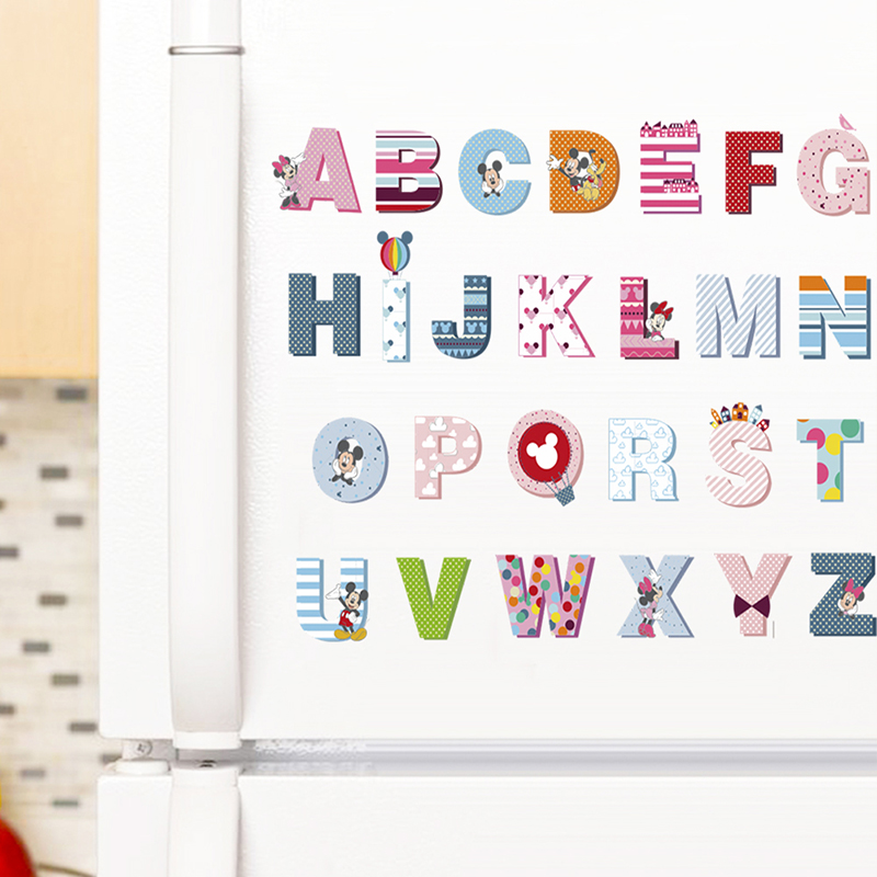 Us 2 35 35 Off Cartoon Colorful 26 Letters Alphabet Wall Stickers For Kids Rooms Nursery Room Decor Children Wall Decals Art Poster Gifts Mural In