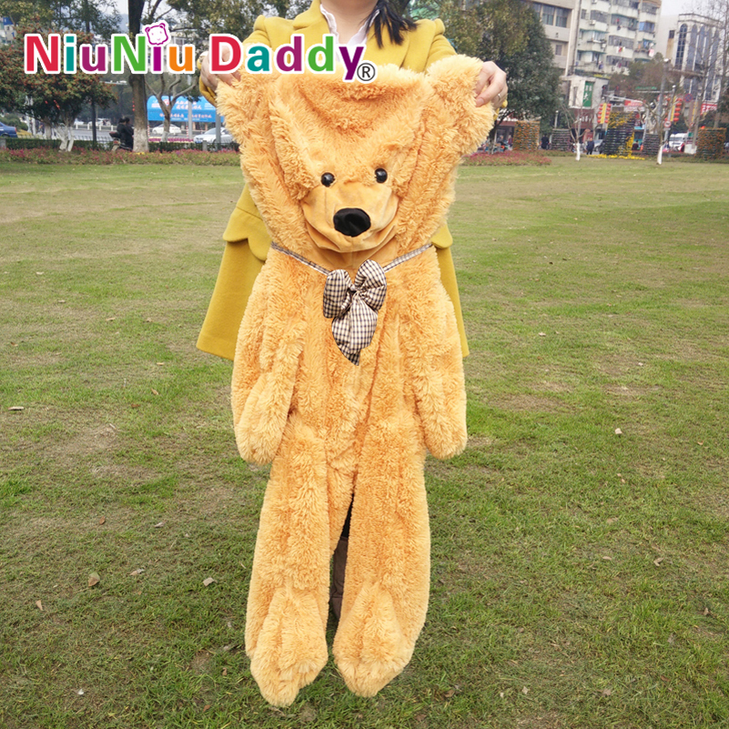 Niuniu Daddy ,100cm/39.5 inch,Plush Bear Skin,Semi-finished Teddy bear, bearskin Plush Toys, Hug the ,Free shipping fancytrader biggest in the world pluch bear toys real jumbo 134 340cm huge giant plush stuffed bear 2 sizes ft90451