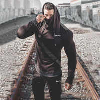 2019 новый мужской спортивный комплект с принтом осенний спортивный костюм Толстовка с длинными рукавами спортивные брюки для фитнеса и трен...