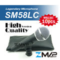 Free Shipping! 10pcs/lots High Quality Version SM 58 58LC SM58LC Wired Vocal Karaoke Handheld Dynamic Microphone Microfone Mic