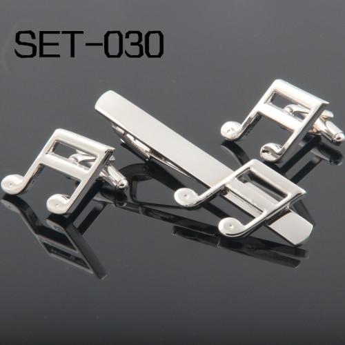 Novinka Zajímavé spony a manžetové knoflíčky lze kombinovat Doprava zdarma Set-030 Music Note