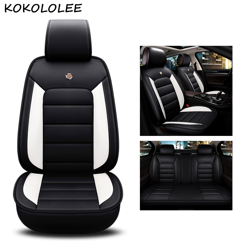 kokololee pu leather car seat cover For kia ceed lada granta seat ibiza bmw e46 e36 audi a3 8p fiat car styling car accessories car travel auto car seat cover set for seat ibiza kia ceed bmw e46 e36 hyundai solaris renault logan car accessories car styling