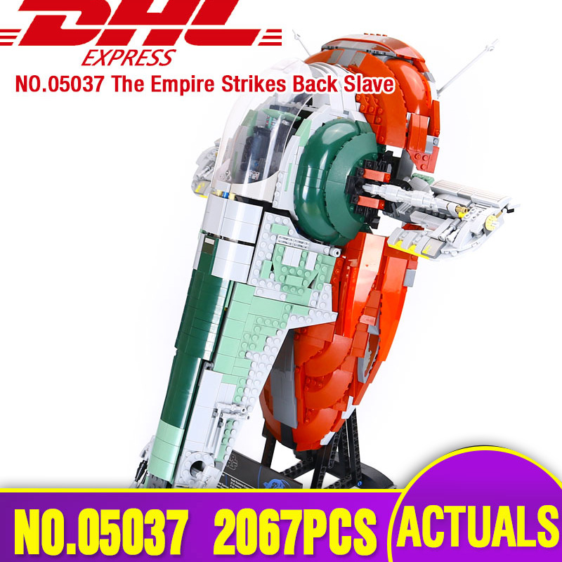 LEPIN 05037 Star Series Wars UCS Slave NO.1 Model 2067pcs Building Block Bricks Toys Kits Compatible Legoing75060 Children Gifts lepin 05060 star series wars ucs naboo star type fighter aircraft model building blocks bricks compatible legoed 10026 toy gifts