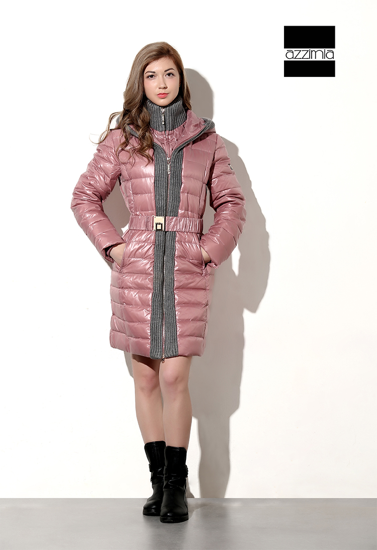 Azzimia 2015 Fashion Style Winter Duck Down Jacket Women Long Coat Parkas With Hat Female Warm