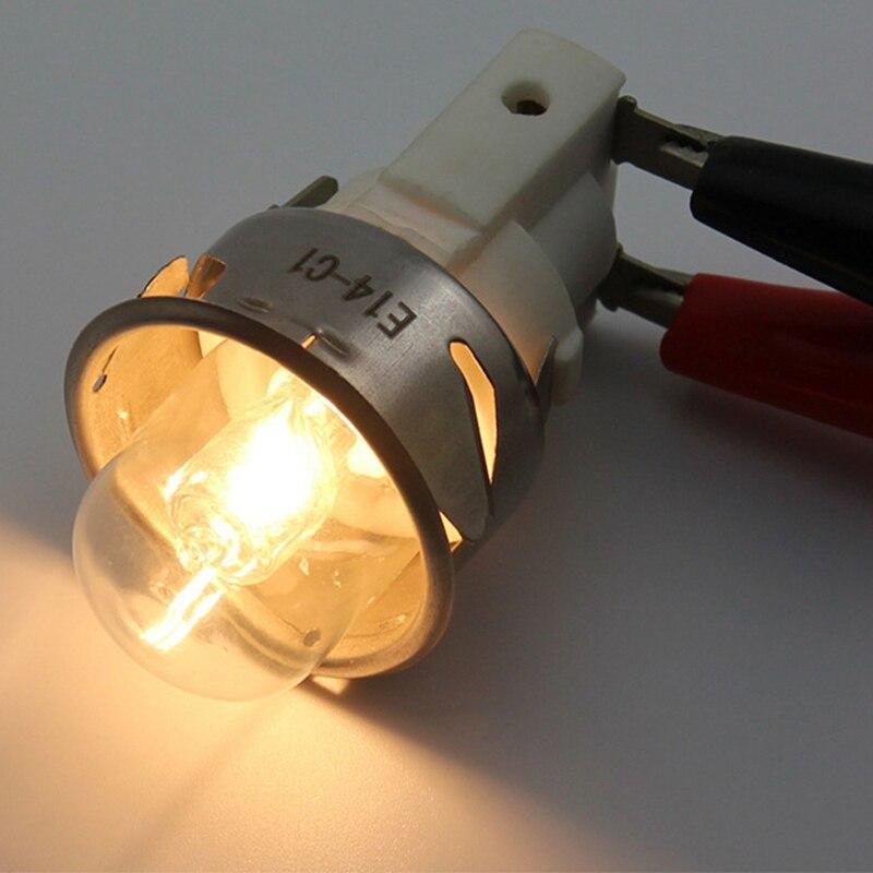 Новинка; Лидер продаж E14 высокое Температура лампы 500 градусов 25 W Галогенная пузырь лампочка для духовки E14 250 V 25 W кварцевая лампа