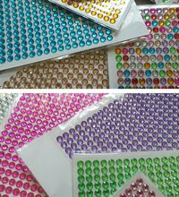 6mm acrylic diamonds Adhesive for DIY Photo album art designs and love heart wedding invitation cards