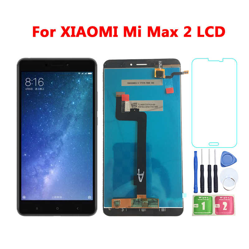 "6.44"" 1920x1080 LCD Display For XIAOMI MI MAX 2 LCD Display Touch Screen For Mi Max2 Max 2 LCD Digitizer Frame Replacement Parts"