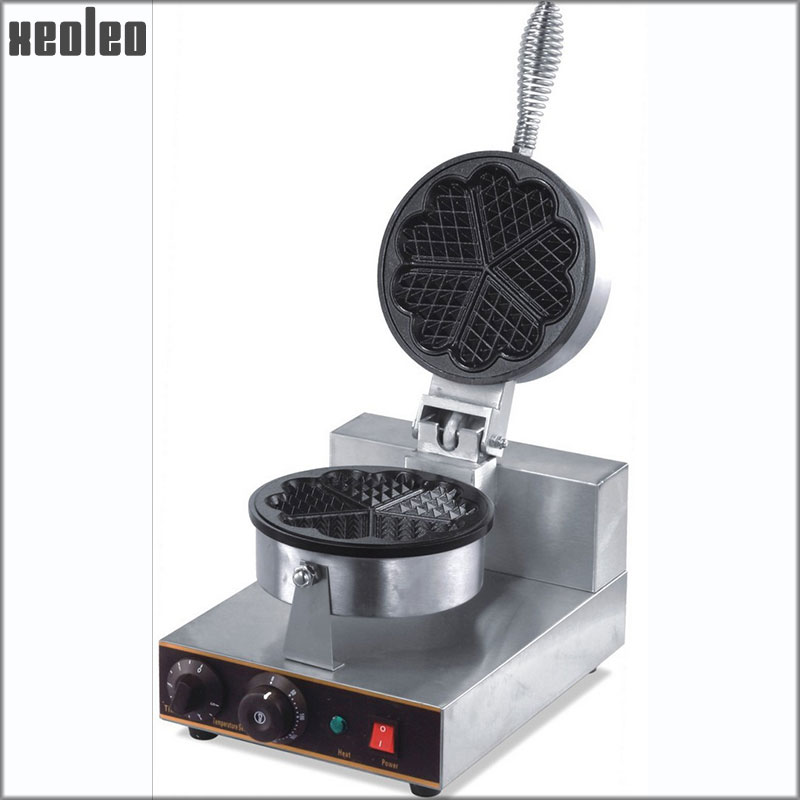 Xeoleo 5 Hearts waffle maker Single heads sweet heart type waffle machine waffle make machine Electric Non-stick Stainless steel наклейка sweet hearts поцелуй 53434