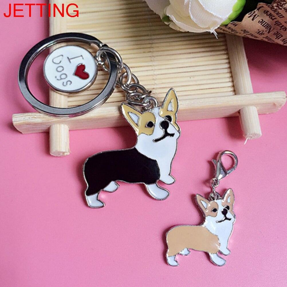 1 Pc Figure Dogs Key Ring Corgi Dog Shape Cheap Lovely Keychain Car Keyring Very Key Gift Ture 100% Guarantee