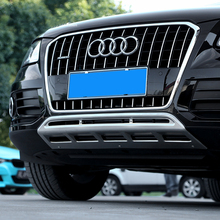 Fit For Audi Q5 2009-2016 front+Rear Bumper Diffuser Bumpers Lip Protector Guard skid plate stainless steel