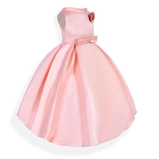 Pink Flower Tutu Dress for Girls New Christmas Party Formal Outfits ...