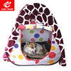 Portable Folding Pet Tent Breathable with 150x200cm Flannel Blanket Dog Sleeping Puppy Kennel Pet Dog House Out Indoor Tent Bag
