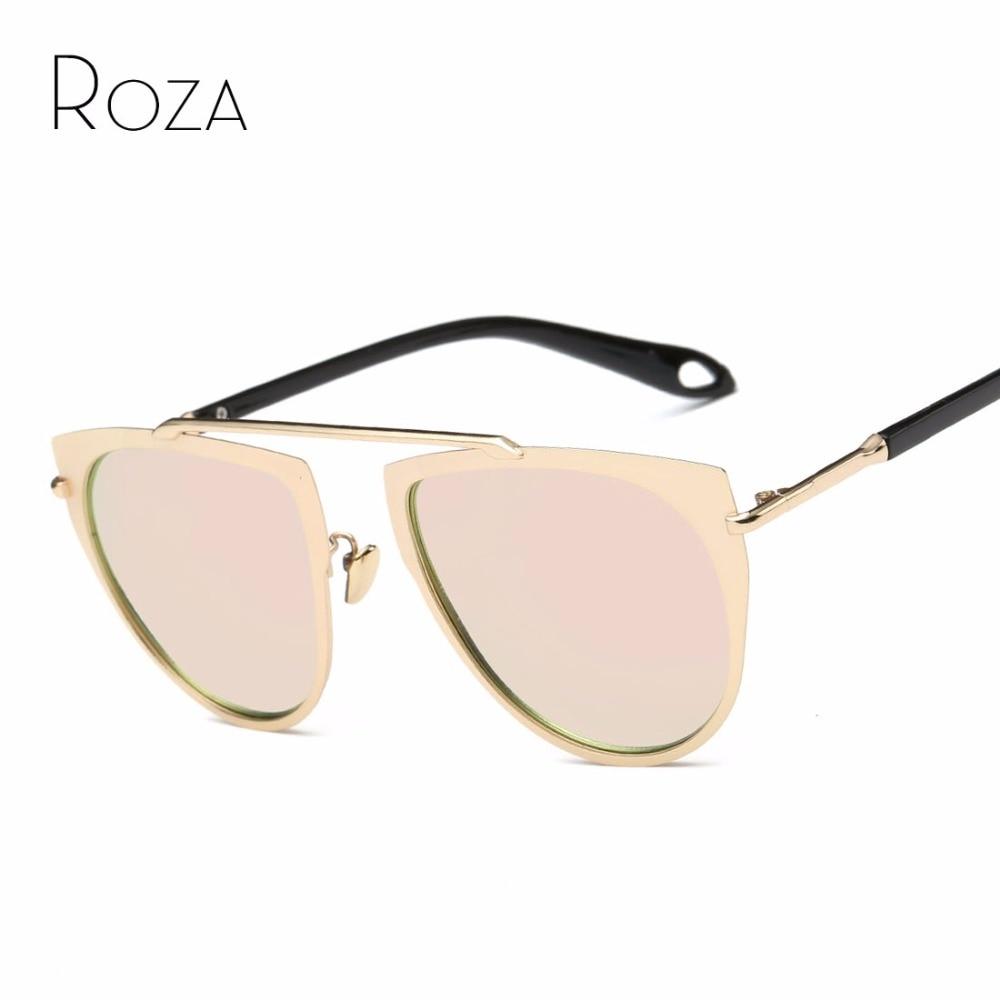 46e3e8b9d2addc ROZA Polarisées lunettes de Soleil Femmes Marque Designer Vintage Pop  Cuivre Cadre Revêtement Lentille Lunettes de Soleil UV400 QC0445