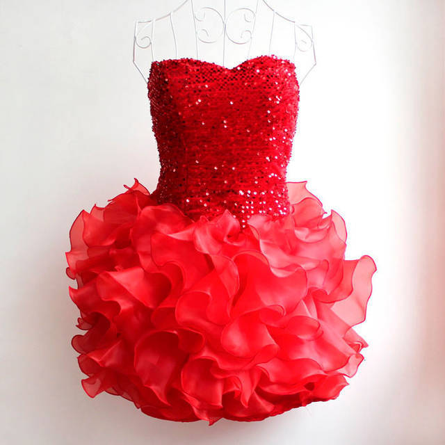 2016 Young Girls Sequins Embroidery Dancing Layered Dresses Big Girl  Wrapped Chest Prom Vestidos Dress 13-20Yrs Bridesmaid Gown ef0f76b35adf