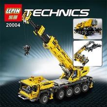 LEPIN 20004 2606 Unids Técnica Potencia Del Motor Kits de Edificio Modelo Bloques de Ladrillos de Juguete Grúa Móvil Compatible legoed 42009