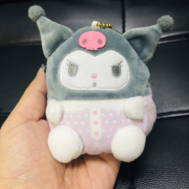 1pc New My melody Plush Purses soft Cinnamoroll dog stuffed plush toys bags pendant keychain for girls gifts image