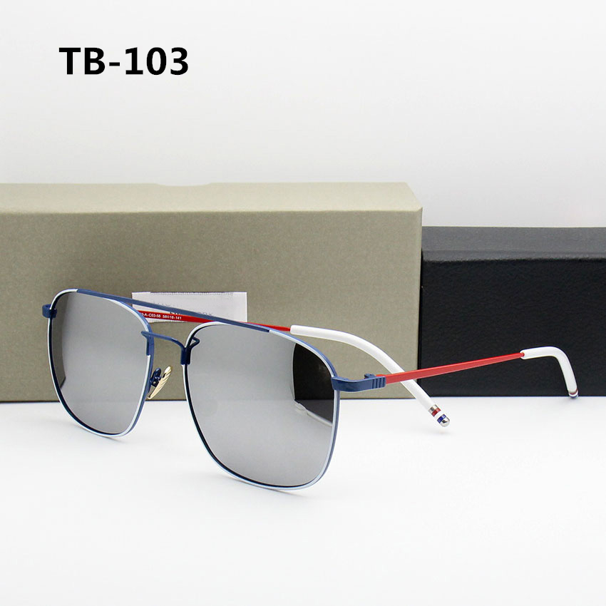 Thom TB103 New York 2019 Polarized Sunglasses Women Mens Sunglasses Brand Designer Luxury Brand with Original Box