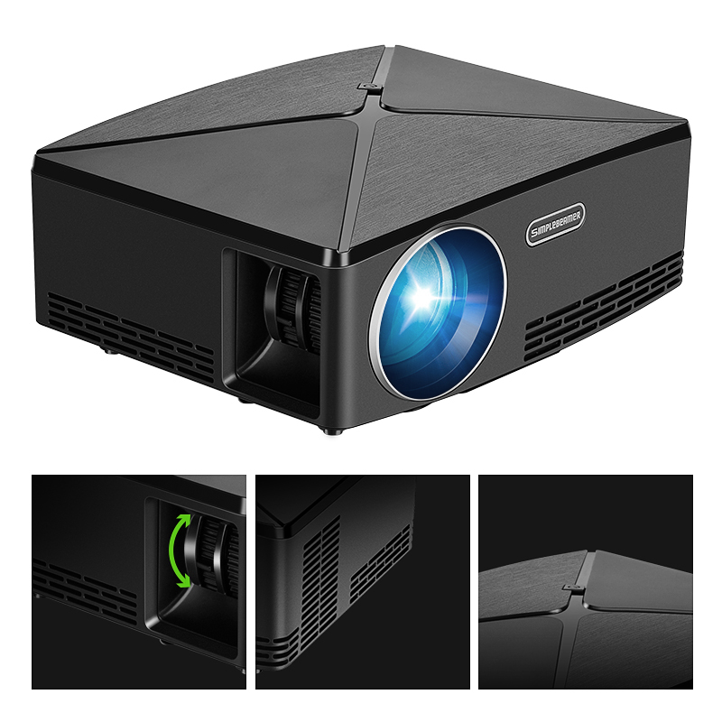 Image 4 - ALSTON HD MINI Projector C80/C80UP, 1280x720 Resolution, Android WIFI Proyector, LED Portable HD Beamer for Home Cinema-in LCD Projectors from Consumer Electronics