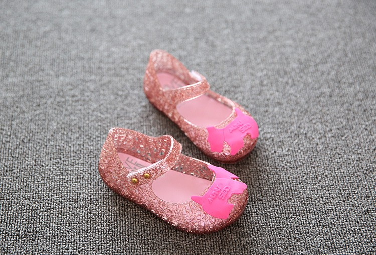 17 new fashion girls shoes Bow jelly sandals female child soft outsole princess shoes open toe shoes kids sandals baby shoes 13