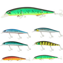 Купить с кэшбэком 1PCS Minnow Fishing Lure Laser Hard Artificial Bait 3D Eyes 13.5cm 17g Fishing Wobblers diving Crankbait Minnows