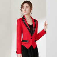 New autumn short jacket female spring and autumn short small suit professional casual decoration body wild suit jacket