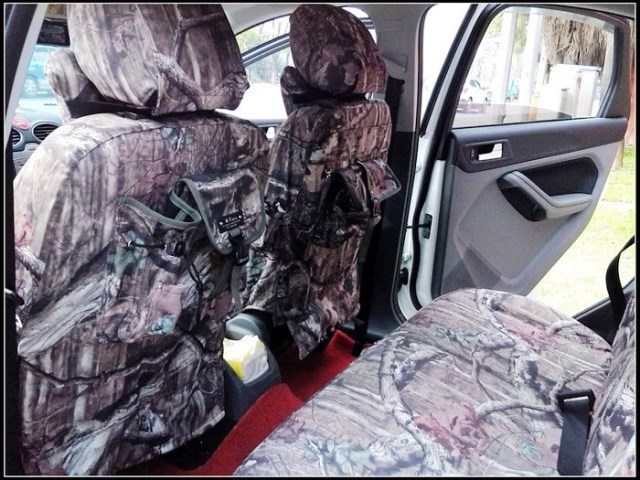 Massifs Biomimicry Camouflage Car Seat Canvas Cover For FORD Focus Transit Mondeo Fiesta S MAX