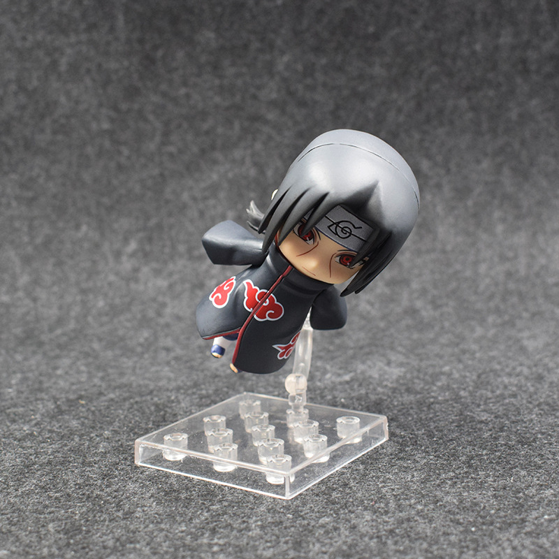 10cm Naruto Nendoroid Shippuden Uchiha Itachi 820# Anime Action Figure PVC toys Collection figures for friends gifts 38