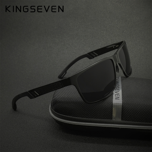 31292b244f0 KINGSEVEN Original HD Polarized Sunglasses Brand Aluminum Magnesium Mirror  Men Sport Driving Glasses Goggles Oculos De