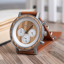 BOBO BIRD luxury Wood Watches Men Leather Strap Quartz Wrist