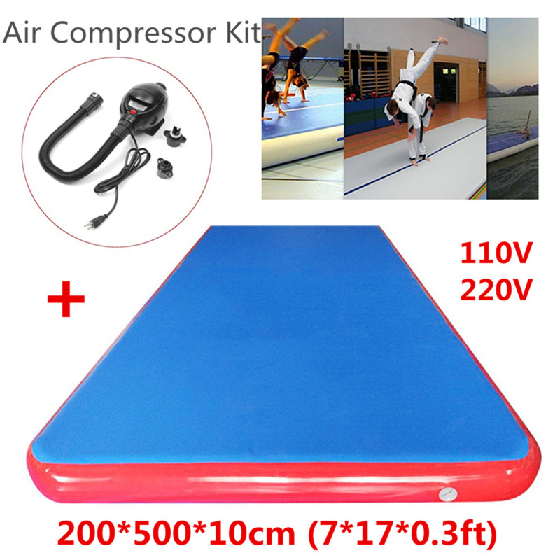 Best Deal 5x2x0.1m Inflatable Air Track Tumbling Floor Gymnastics Training Pad GYM Rolling Mat Training Equipment free shipping 10 2 m inflatable air track tumbling inflatable air track gymnastics gym air track