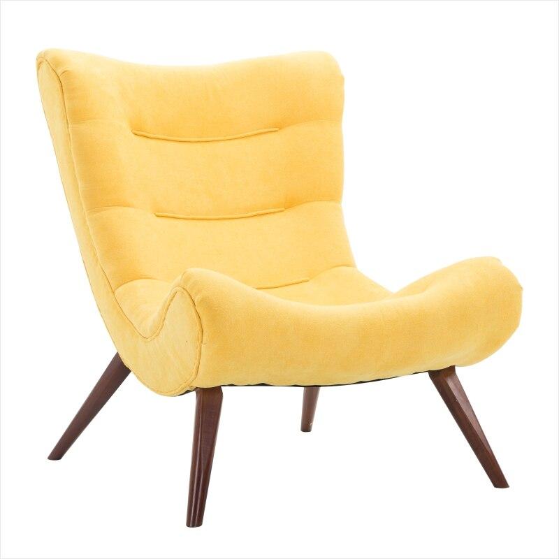 100% Kwaliteit Nordic Kleine Appartement Wasbaar Fauteuil Luie Stof Casual Sofa Enkele Tijger Stoel Eenvoudige Roze Slak Stoel
