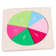 Preschool Circular Mathematics Fraction Board Division Teaching Aids Education Math Toy Children Learning Tool Toy montessori baby wooden educational toys mathematics learning preschool teaching aids test tube long division board