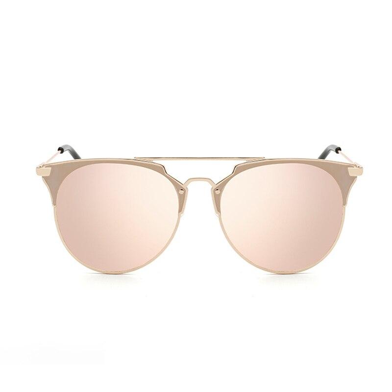 Retro Round Cat Eye Sunglasses Men Women Designer Eyewear Metal Frame UV400 Sun Glasses Female Oculos De Sol Lunette De Soleil 1