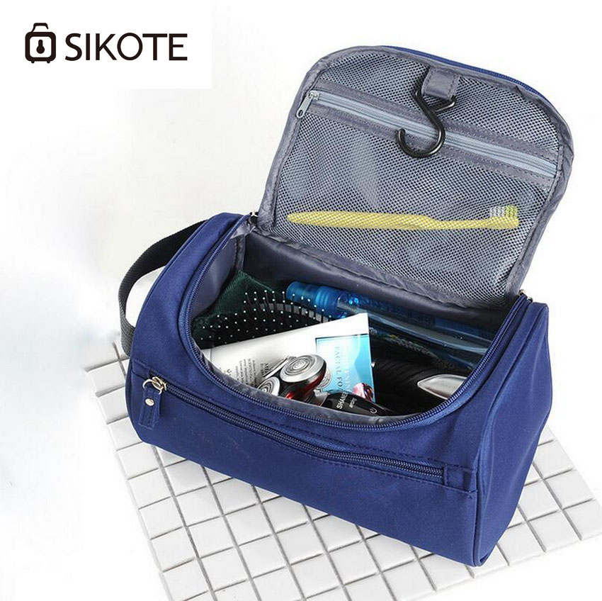 sikote Oxford Cloth Multi-Purpose Travel Wash Bag, MenS Portable Travel Waterproof Bag, Large Women Holding Cosmetic Bag