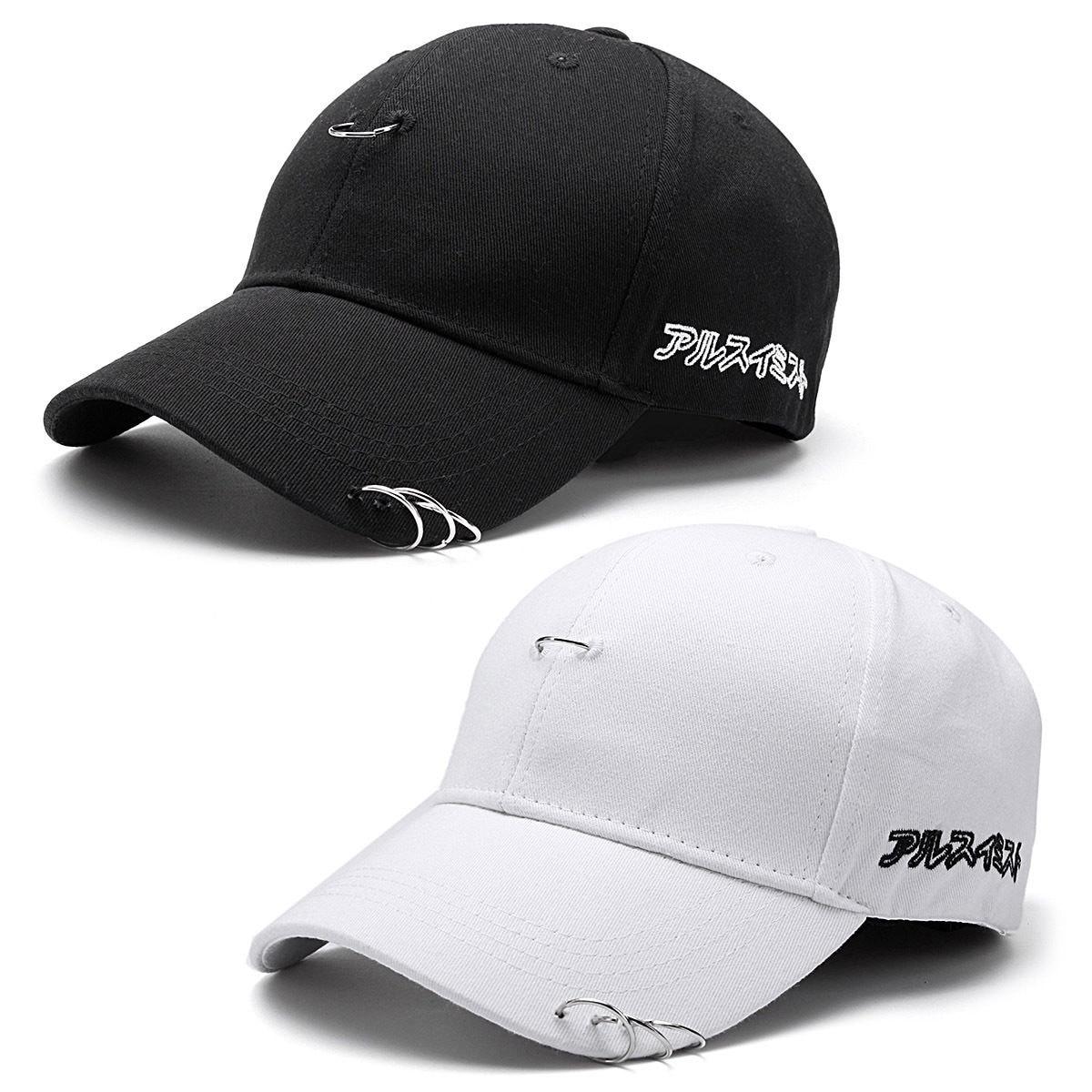 KPOP Hat  Piercing Ring Baseball Adjustable Cap Hip Hop Snapback Cap Fash LD