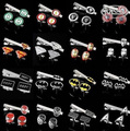 Free shipping Cufflinks Tie Clips Set Superheroes designs copper material men tie clips cufflinks whoelsale&retail