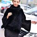 2016 New Design Genuine Mink Fur Jacket For Fashion Women Real Knitted Mink Fur Coat Winter Nature Mink Fur Outwear
