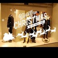 2016 חג המולד לבן ויניל מדבקות קיר ציטוט קיר אמנות קיר מדבקת חנות Deers החג שמח חג המולד חלון זכוכית קישוט בית
