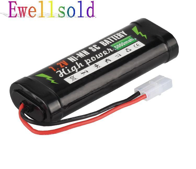 Ewellsold 7.2V 5000mAh Ni-MH SC battery for RC car RC toys 1/16 RC tank RC boat free shipping yukala 4 8 v 700mah n cd aa battery for rc car rc boat rc tank 2pcs lot free shipping