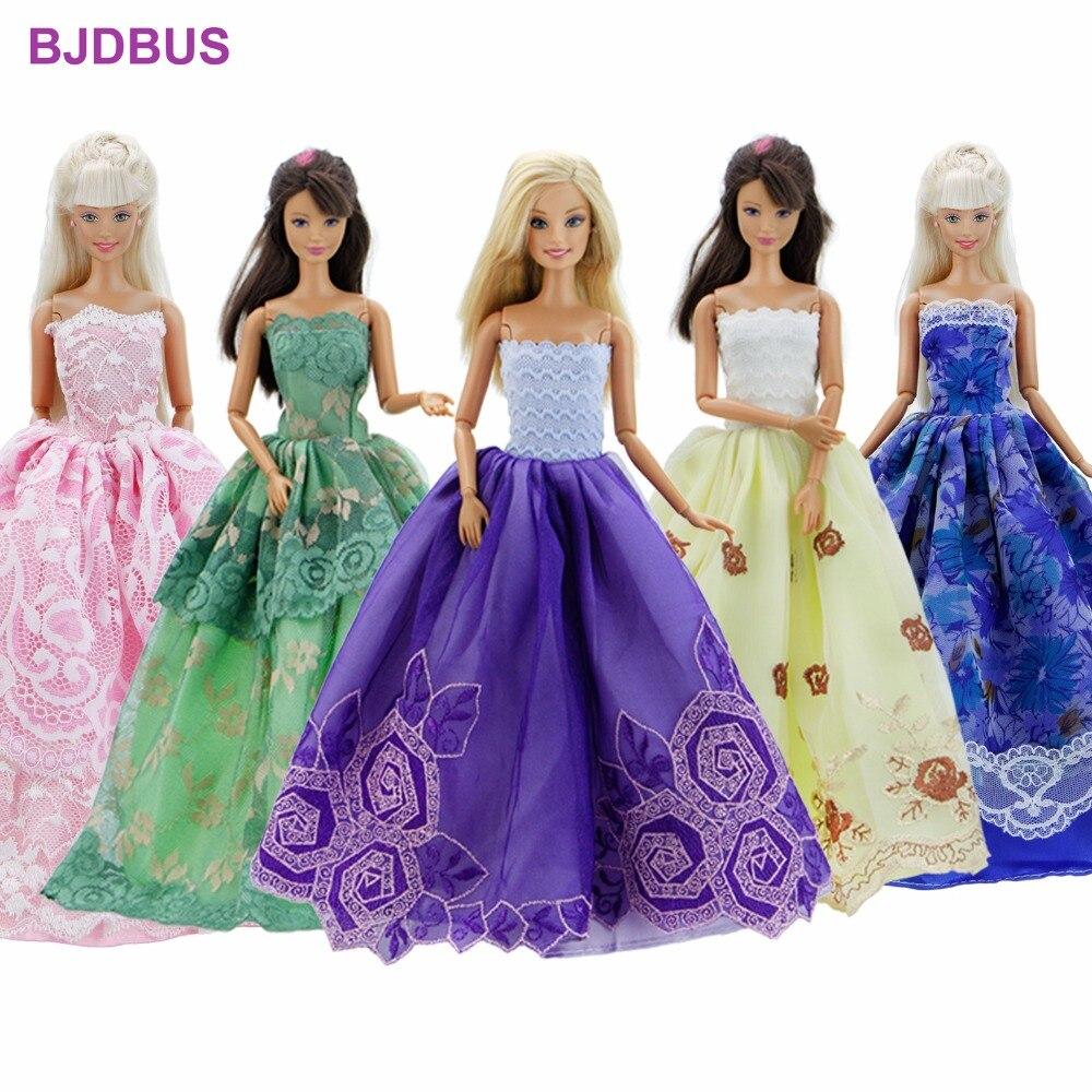 Lot 15 piezas = 10 pares de zapatos y 5 novia partido vestido ...