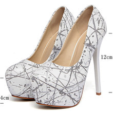 Ladies pumps 12cm Sexy Women High heels platform 2016 sexy women high heel pumps