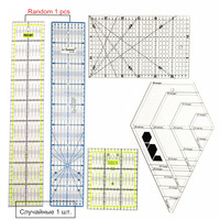 Free Shipping 1 Set China Taiwan Acrylic Material Standard Scale Patchwork Ruler Four Kinds Of Styles