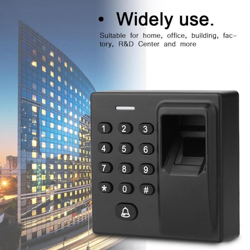 12 V Biometrische Fingerprint Recognization + Rfid Kartenleser Scanner + Passwort Hintergrundbeleuchtung Tastatur 125 Khz Karte Access Control Syetem