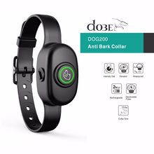 2018 Nieuwe Stijl Hond Blafcontrolehalsband Anti Bark Oplaadbare Pet Training Collar Shock Waterdicht Hond Elektrische Collar Bark Stop(China)