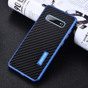 Image 5 - IMatch Алюминиевый металлический чехол из настоящего углеродного волокна для Samsung Galaxy S10/ Plus, роскошный чехол с полной защитой для Samsung S10, чехол