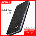 Para xiaomi redmi note 4 case original mofi leather flip case para hongmi redmi red rice note 4 nota4 suporte função + tela de cinema