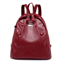 цены Fashion 2018 Women PU Leather Backpack School Bags For Teenage Girls College Student Shoulder Bag Women Travel Daypack Backpack