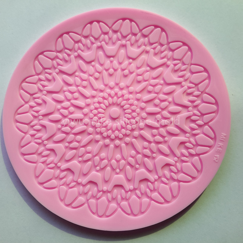 bake tool factory shop , lace design cake silicone for cake decorating tool mk-659