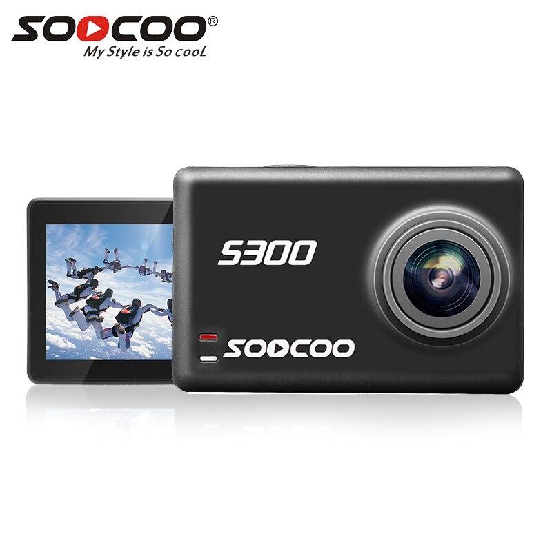 SOOCOO S300 Action Camera 4K 30FPS Sports Camera 2.35 Touchscreen Hi3559V100 IMX377 EIS Wifi External Mic